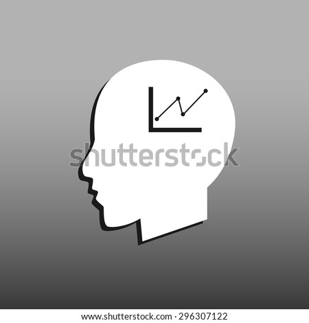 Chart icon, Modern man vector illustration. Flat design style.. - stock vector