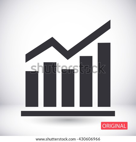 chart icon . Vector  Eps 10