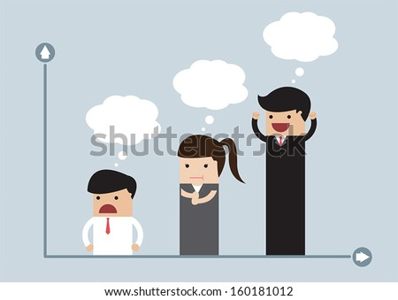 Chart of business people, VECTOR, EPS10 - stock vector