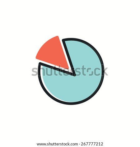 Chart Pie Icon.vector illustration. - stock vector
