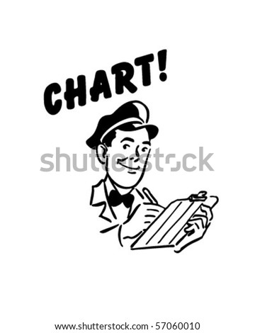 Chart - Service Station Mechanic - Retro Clip Art
