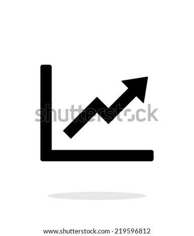 Chart up icon on white background. Vector illustration. - stock vector