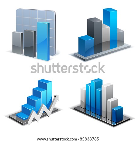 Charts and Graphs Collection. Business statistics