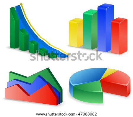Charts and Graphs Collection. Reports set. - stock vector