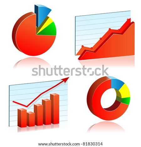 Charts icon - stock vector