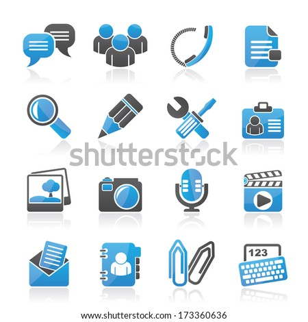 Chat Application and communication Icons - vector icon set
