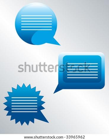 Chat banner vector - stock vector