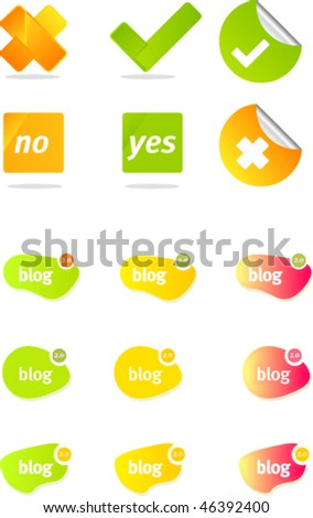 chat blog - stock vector