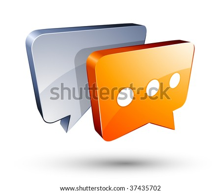 Chat Box - stock vector