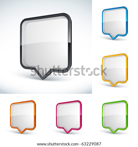 chat box - stock vector