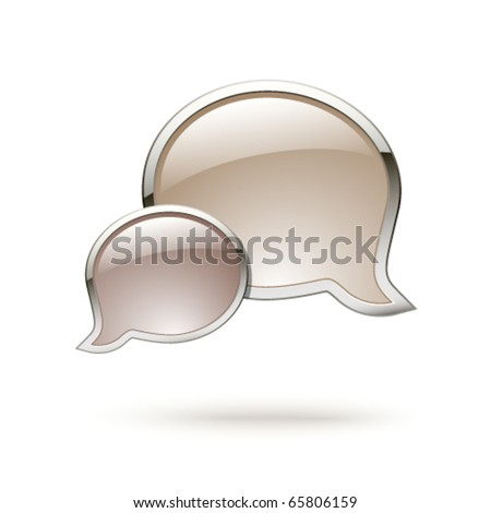 Chat box icon - stock vector