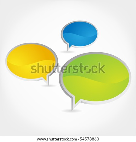 Chat boxes. - stock vector