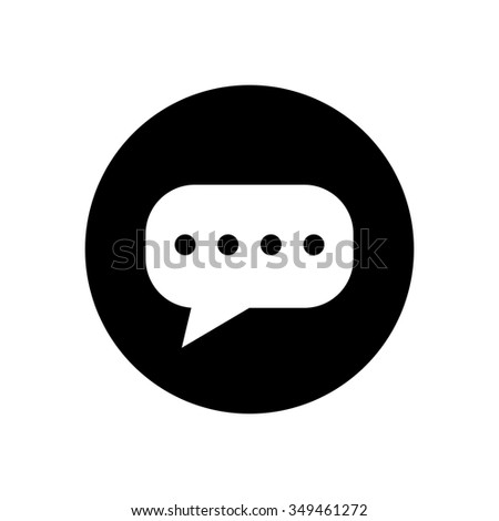 chat Bubble icon - stock vector