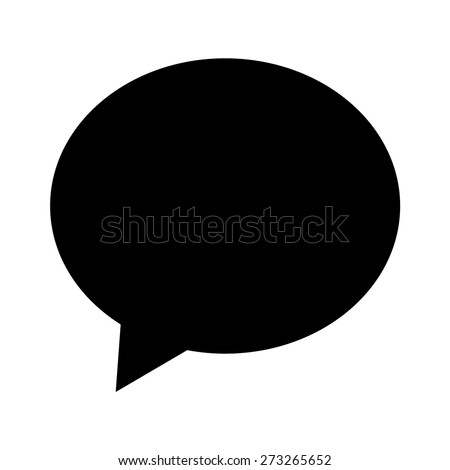 Chat bubble or chat message flat icon for apps and websites - stock vector