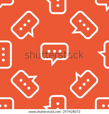 Chat bubble pattern - stock vector