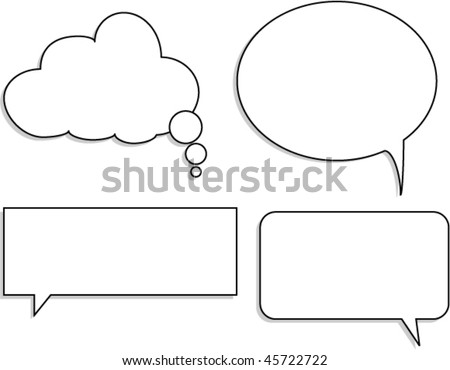 Chat bubbles - stock vector