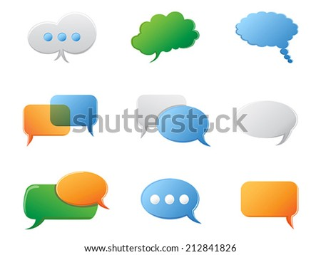 Chat Bubbles icon set - stock vector