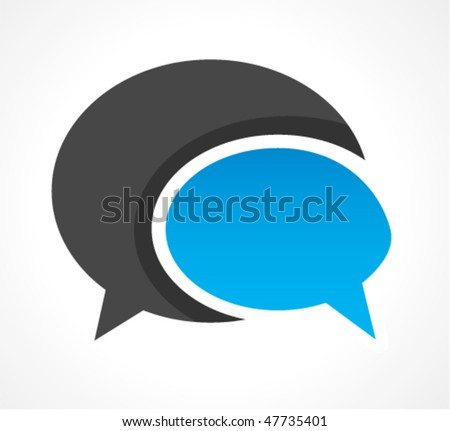 chat clipart - stock vector