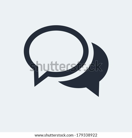 Chat Flat Icon with shadow. Vector EPS 10. - stock vector