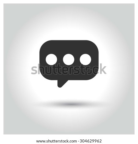 Chat icon. Circle concept web buttons. vector illustration. Flat design style - stock vector
