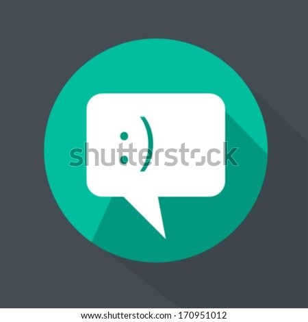 Chat Icon  flat style - stock vector