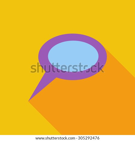 Chat icon. Flat vector related icon with long shadow for web and mobile applications. It can be used as - logo, pictogram, icon, infographic element. Vector Illustration. - stock vector