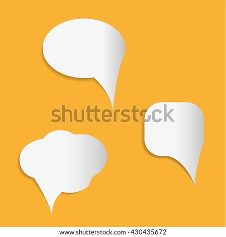 Chat icon on yellow background