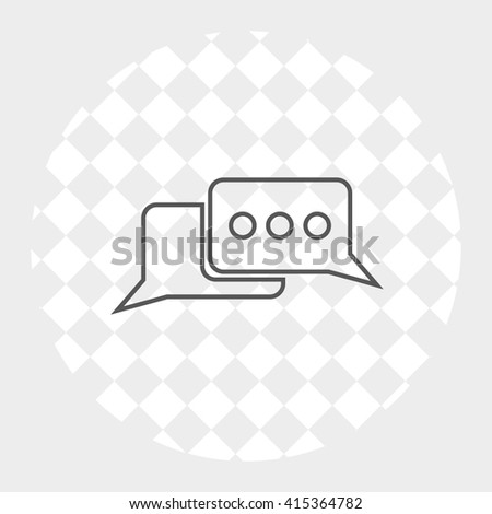 chat icon, vector illustration
