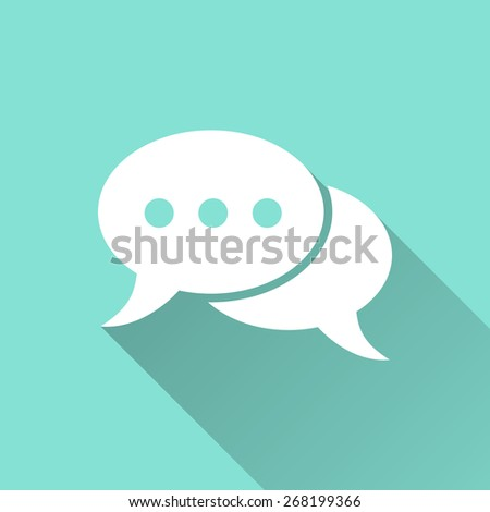 Chat icon, vector illustration, flat design. - stock vector