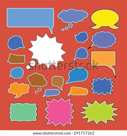 chat icons, illustrations - stock vector