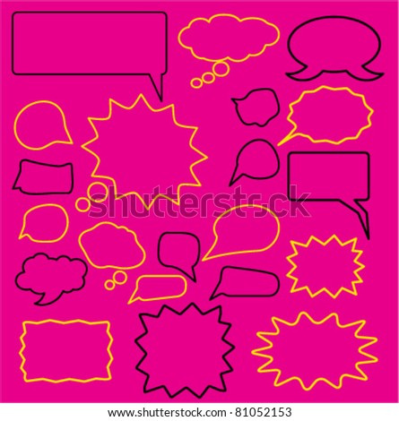 chat icons, signs, vector illustrations - stock vector