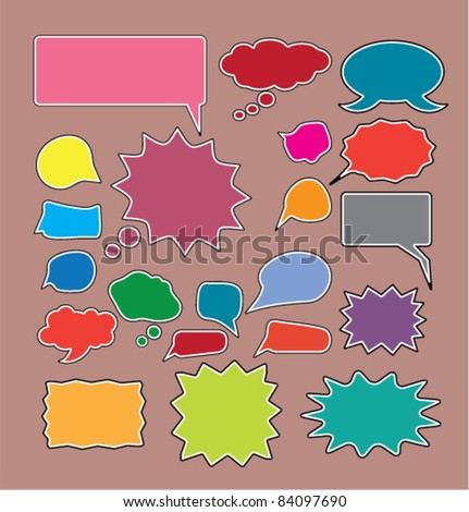 chat icons, signs, vector illustrations