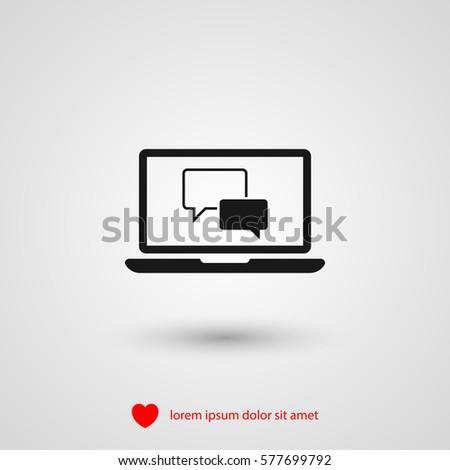 Chat Laptop Vector Icon Stock-Vektorgrafik 577699792 – Shutterstock