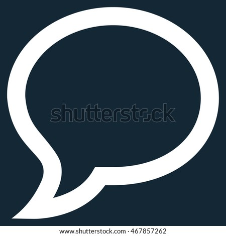 Chat Message vector icon. Style is linear flat icon symbol, white color, dark blue background.