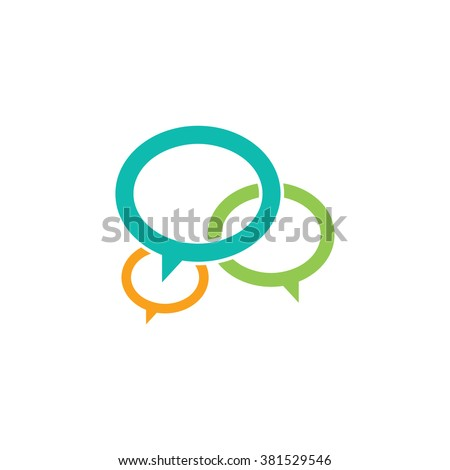 chat network logotype - stock vector
