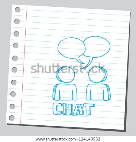 Chat symbol - stock vector