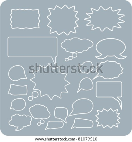 chat & talk & idea icons, signs, vector illustrations