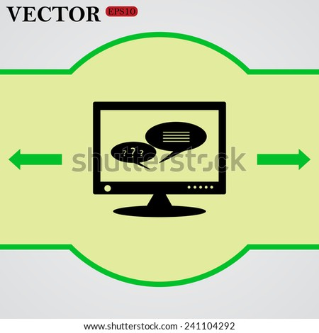 chat via computer,  vector, EPS 10