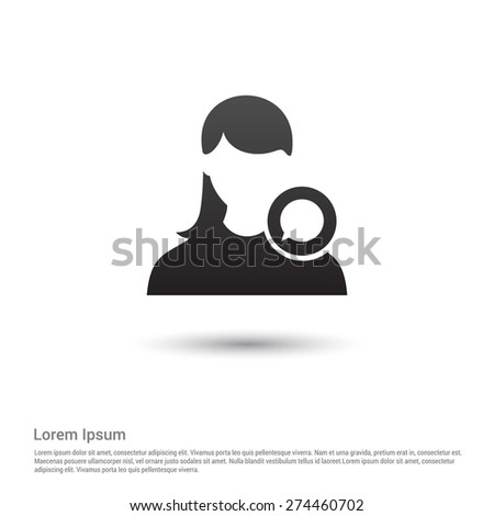 Chat with user icon, pictogram icon on gray background. - stock vector