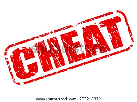 Cheat red stamp text on white - stock vector