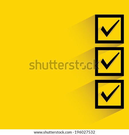 check box - stock vector