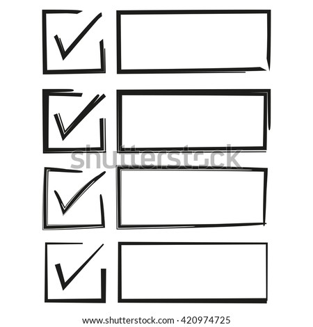 check box check list hand drawn stock vector royalty free