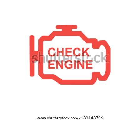 Check engine - stock vector