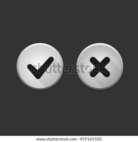 Check icons - stock vector