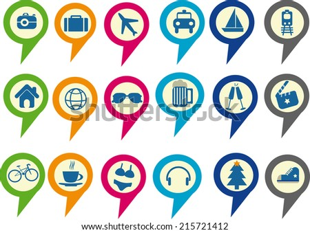 Stock Vector Check In Badge on Polka Steps Diagram