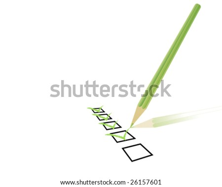 check list - stock vector