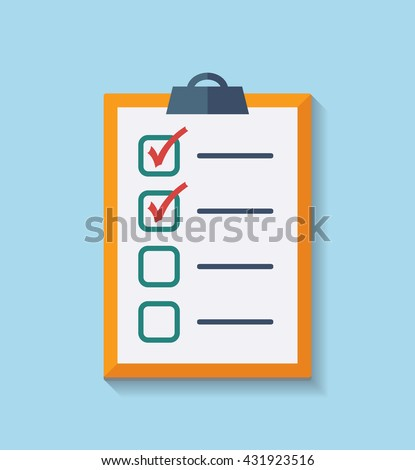 Check List Flat Icon. Vector illustration - stock vector