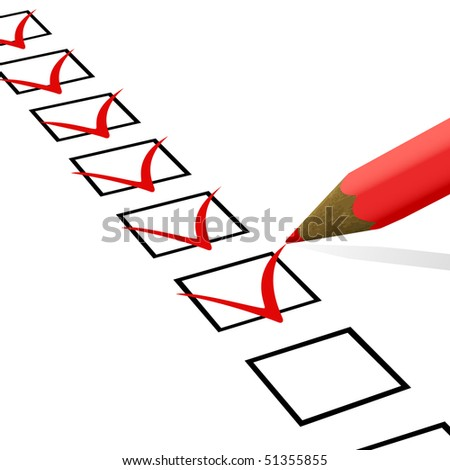Check list. Vector illustration. - stock vector