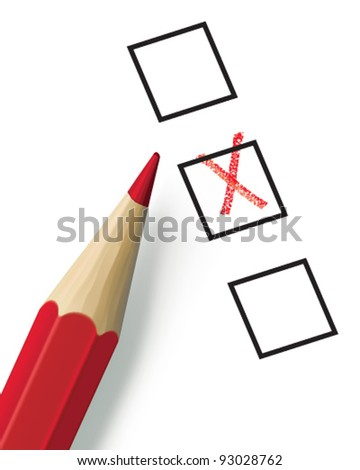 Check list with pencil. Vector illustration. Mesh - stock vector