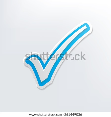 Check mark design on white background,clean vector